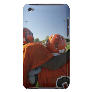 Two American football players looking at playing Barely There iPod Cover