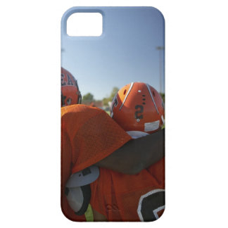 Two American football players looking at playing iPhone 5 Case