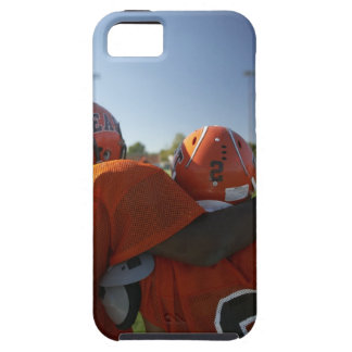 Two American football players looking at playing iPhone 5 Covers