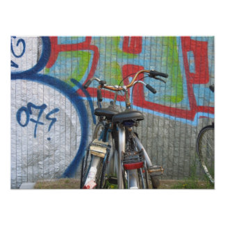 Two Amsterdam Bikes Holland Photo Art Poster