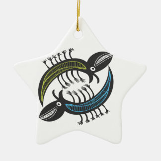 Two Amusing fantasy beastys Christmas Ornament