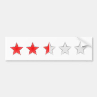 Two and a half stars white bumper sticker