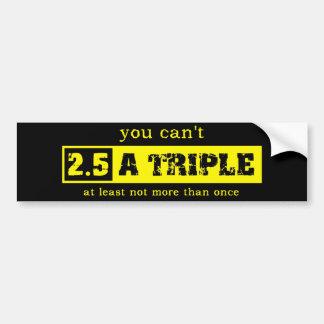 Two and a Half Triple Motocross Bumper Sticker