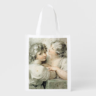 Two angels, 18th century reusable grocery bag
