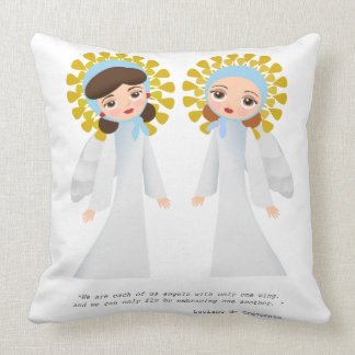 Two Angels Pillow