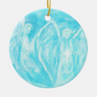 Two Angels Sisters Friends Christmas Ornament