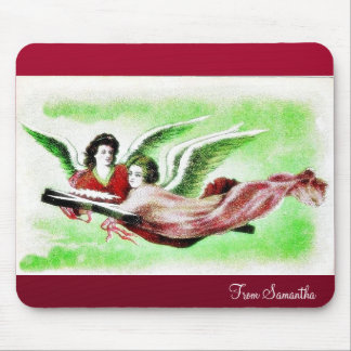Two anges flying mouse pad