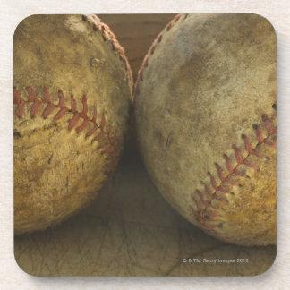 Two antique baseballs coaster