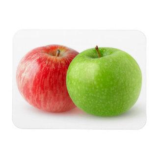 Two apples rectangular photo magnet