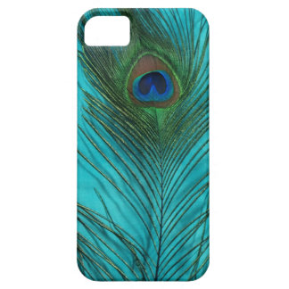 Two Aqua Peacock Feathers Barely There iPhone 5 Case