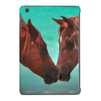 Two arabian horses kissing by the sea iPad mini retina covers