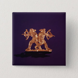 Two archers 15 cm square badge