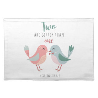 two are better than one christian bible verse placemat