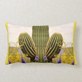 Two Armed Saguaro Throw Lumbar Pillow