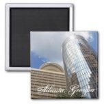 Two Atlanta High Rises Square Magnet