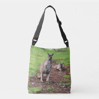 Two Aussie Kangaroos, Full Print Cross Body Bag