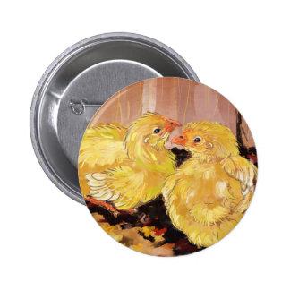 Two baby Cornish chicks 6 Cm Round Badge