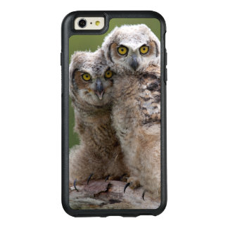 Two Baby Great Horned Owls Perching On A Branch OtterBox iPhone 6/6s Plus Case