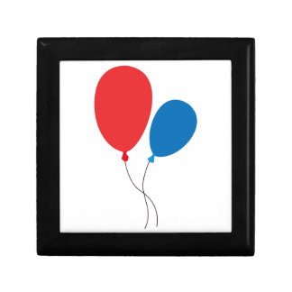 Two Ballons Small Square Gift Box