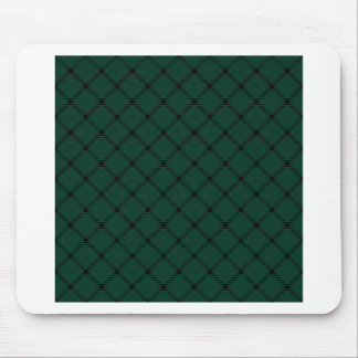 Two Bands Small Diamond - Black on Dark Green Mouse Pad