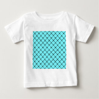 Two Bands Small Diamond - Black on Electric Blue T-shirt