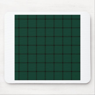 Two Bands Small Square - Black on Dark Green Mousepads