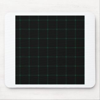 Two Bands Small Square - Dark Green on Black Mousepad