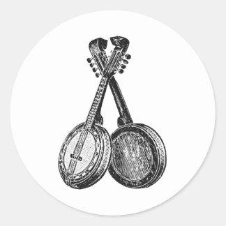 Two Banjos Classic Round Sticker