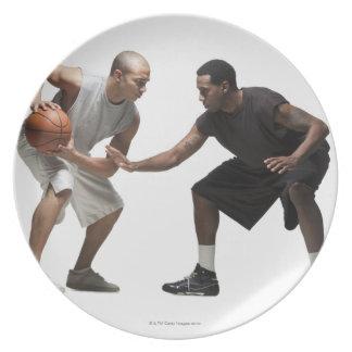 Two basketball players 2 plate