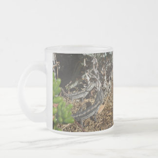 Two_Bearded_Dragons_Frosted_Glass_Beer_Mug. Frosted Glass Coffee Mug