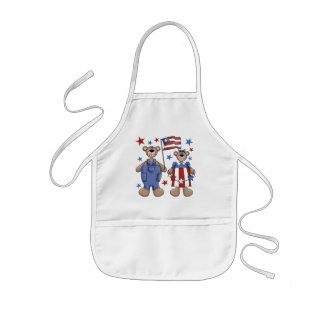 Two Bears Patriotic Kids Apron
