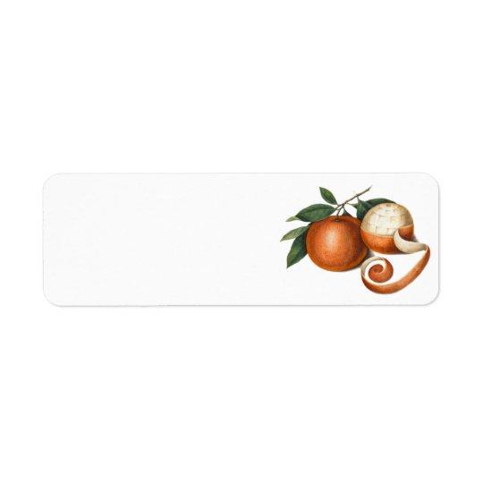 Two Beautiful Oranges - Antique Painting Return Address Label