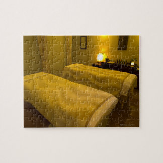 Two beds in the beauty salon, high angle view, jigsaw puzzle