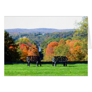 Two Benches Greeting Card