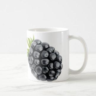 Two berries basic white mug