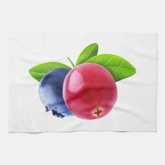 Two berries tea towel