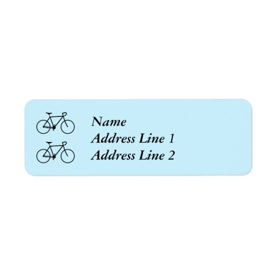 Two Bicycle Silhouettes Address Label