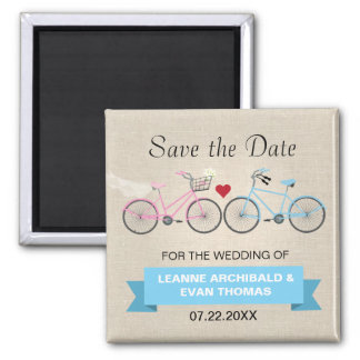 Two Bicycles Wedding Save the Date Magnet