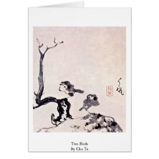 Two Birds By Chu Ta Greeting Card