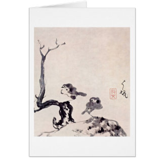 Two Birds By Zhu Ta Greeting Card