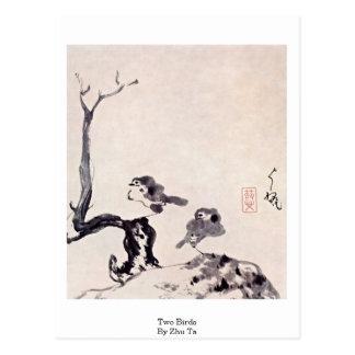 Two Birds By Zhu Ta Postcards