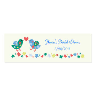 Two Birds Gift or Favor Card Double-Sided Mini Business Cards (Pack Of 20)