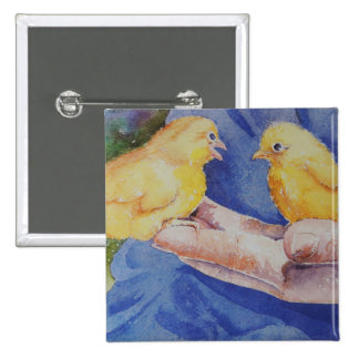 Two Birds in Hand 15 Cm Square Badge