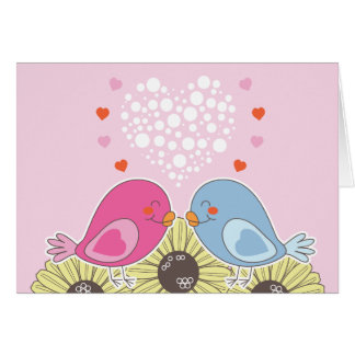 Two Birds in Love Note Card