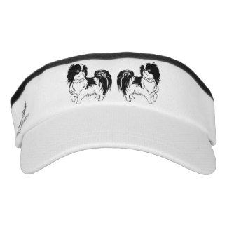 Two Black and White Dogs Visor
