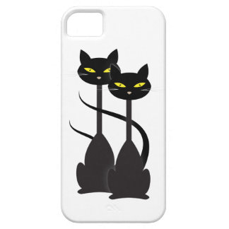 Two Black Cats Barely There iPhone 5 Case
