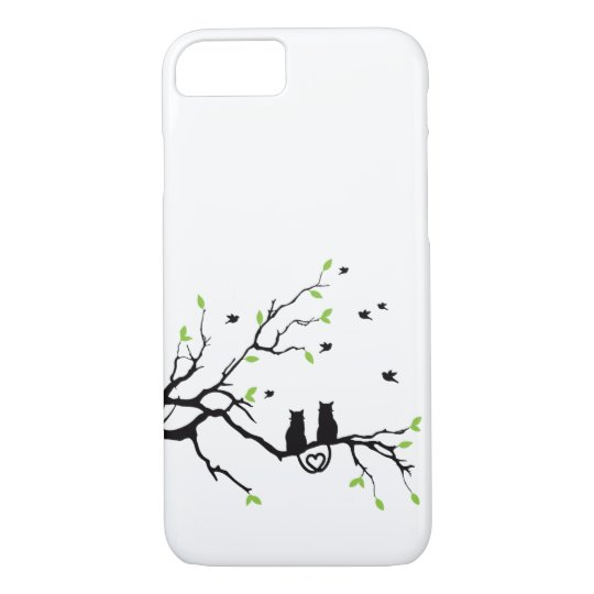 Two Black Cats in Love iPhone 8/7 Case