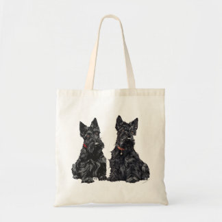 Two Black Scottish Terriers