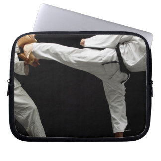Two Blackbelts Sparring 2 Laptop Computer Sleeves