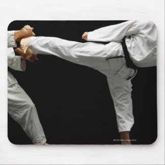 Two Blackbelts Sparring 2 Mouse Pad